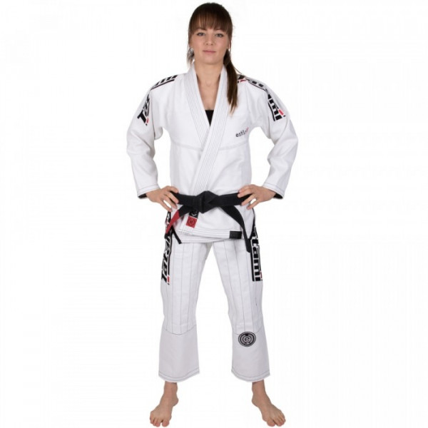 BJJ gi - Ladies Estilo 6.0 White & Black - Hvid / Sort