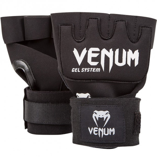 Inderhandske - Venum - Kontact Gel Glove Wraps - Sort
