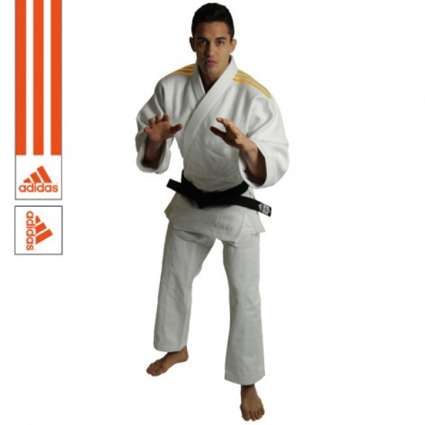 Judogi Adidas - Quest J690 - Hvid/Orange