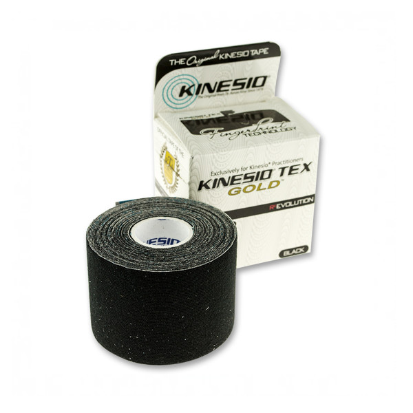 Kinesiotape - Tex Gold FP - 5cm x 5m  - sort
