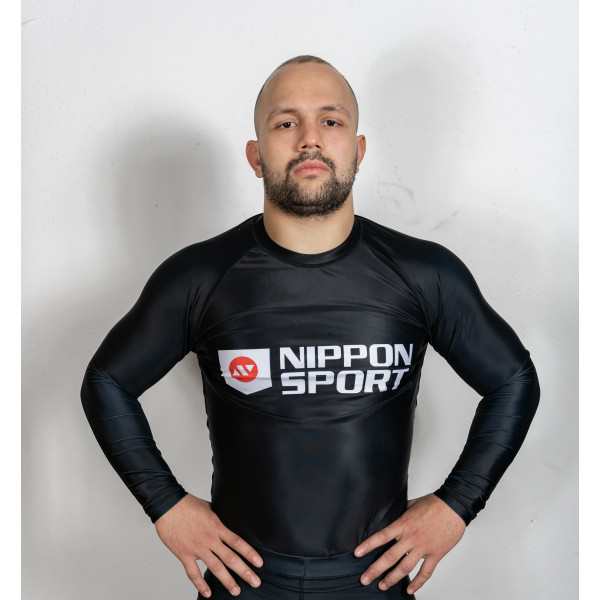Rash Guard - Nippon Sport - 'Long sleeves' - Sort