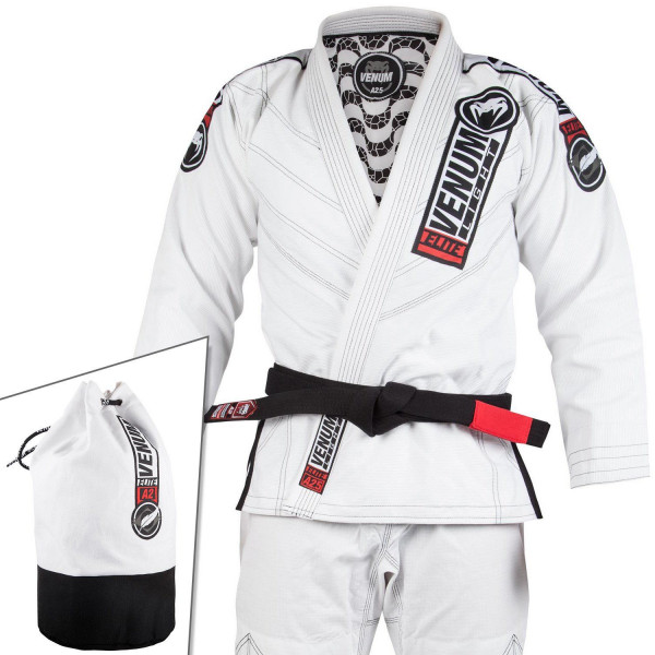 BJJ Gi - Venum Elite Light 2.0 BJJ Gi - (Bag Included) - White