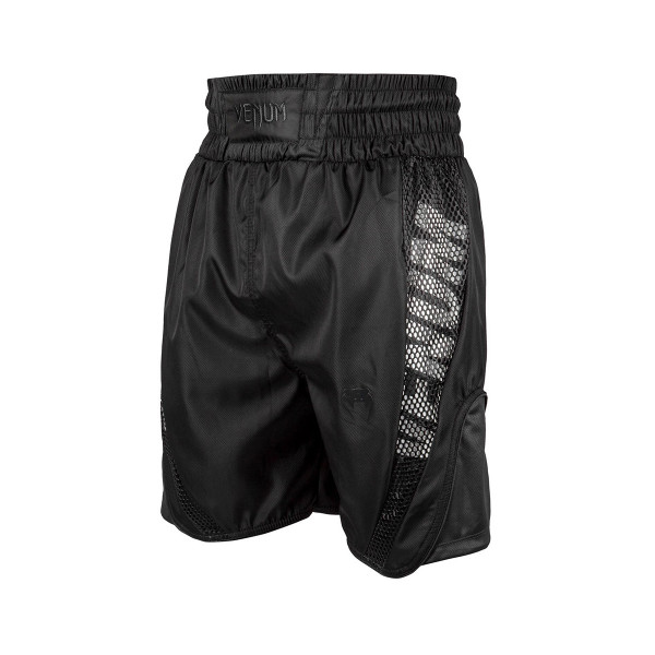 Boxing Shorts - Venum - 'Elite' - Black/Black