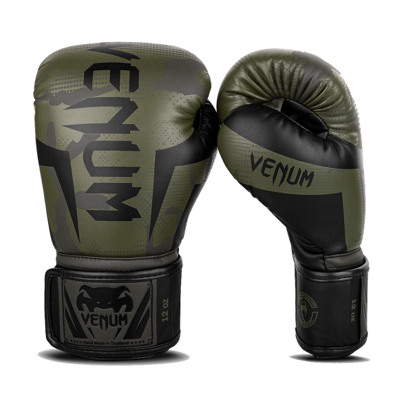 Boxing Gloves - Venum - 'Elite' - Khaki/Camouflage