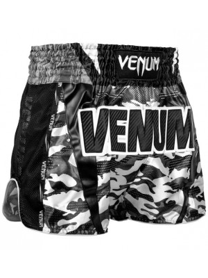 Muay Thai Shorts - Venum - 'Full Cam' - Camouflage/Sort/Hvid