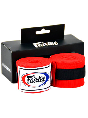 handwraps - Fairtex - 'HW2' - Red - 4.5m