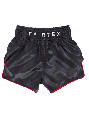 Muay Thai Shorts - Fairtex - 'Stealth' - Sort/Rød
