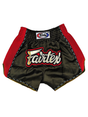 Muay Thai Shorts - Fairtex - 'BS301' - Black / Red