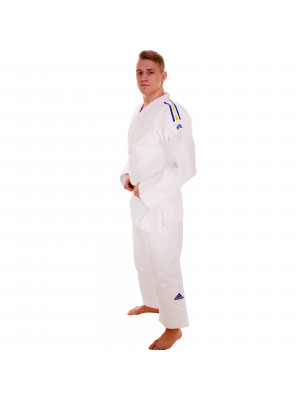 Judo Uniform  - Adidas Judo - 'Champion 2.0' - Hvid/Gul - Slim Fit