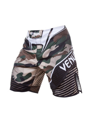 MMA Shorts - Venum - 'Camo Hero Fight' - Brun