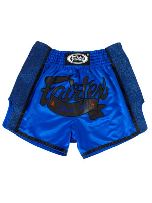 Muay Thai Shorts - Fairtex - 'BS1702' - Sort/Blå