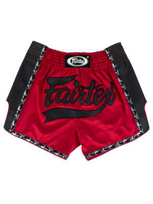 Muay Thai Shorts - Fairtex - 'BS1703' - Sort/Rød