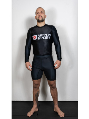 Vale Tudo Shorts - Nippon Sport - 'Half tights' - Sort