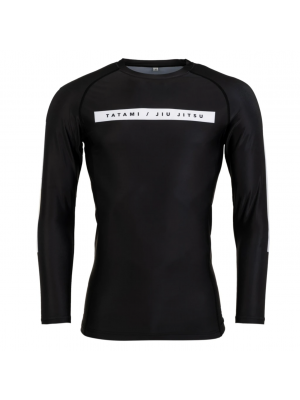 Rash Guard - Tatami fightwear - 'Rival' - Sort - Lange ærmer