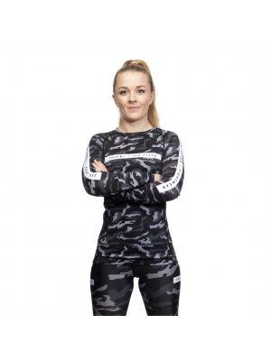 Rash Guard - Tatami fightwear - 'Rival, Ladies' - Sort/Camouflage - Lange ærmer