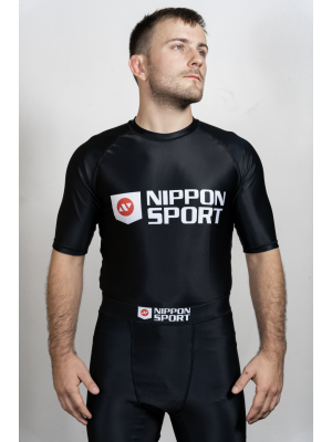 Rash Guard - Nippon Sport - 'Short sleeves' - Sort